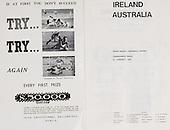 Rugby 196 - 21/01 Tour Match Ireland Vs Australia