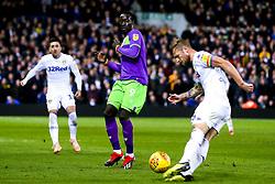 Famara Diedhiou of Bristol City challenges Liam Cooper of Leeds United - Mandatory by-line: Robbie Stephenson/JMP - 24/11/2018 - FOOTBALL - Elland Road - Leeds, England - Leeds United v Bristol City - Sky Bet Championship