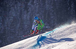 22.01.2019, Streif, Kitzbühel, AUT, FIS Weltcup Ski Alpin, Abfahrt, Herren, 1. Training, im Bild Klemen Kosi (SLO) // Klemen Kosi of Slovenia during the 1st Training of mens downhill of FIS Ski Alpine Worldcup at the Streif in Kitzbühel, Austria on 2019/01/22. EXPA Pictures © 2019, PhotoCredit: EXPA/ Johann Groder