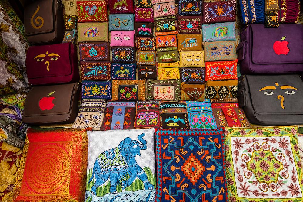 Handicrafts at a shop, Thamel, Kathmandu, Nepal.