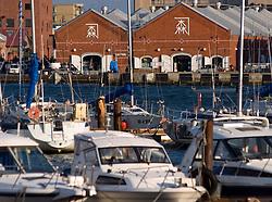 Harbour at Hakodate in Hokkaido in Japan