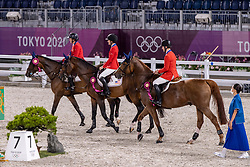Team USA, Kraut Laura, Springsteen Jessica, Ward Mclain<br /> Olympic Games Tokyo 2021<br /> © Hippo Foto - Dirk Caremans<br /> 07/08/2021