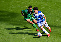 Football - 2019 / 2020 Sky Bet (EFL) Championship - Queens Park Rangers vs. Sheffield Wednesday<br /> <br /> Queens Park Rangers' Ilias Chair holds off the challenge from Sheffield Wednesday's Joey Pelupessy, at Kiyan Prince Foundation Stadium (Loftus Road).<br /> <br /> COLORSPORT/ASHLEY WESTERN