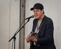 June 13, 2017 - Sweden - Famous Swedish guitarist Georg ''Jojje'' Wadenius during a concert in Folkets Park (The People's Park) for children. (Credit Image: © Tommy Lindholm/Pacific Press via ZUMA Wire)