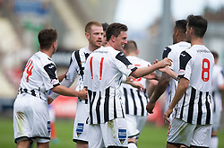 Dunfermline's Joe Cardle celebrates after scoring their seventh goal. <br /> Dunfermline 7 v 1 Cowdenbeath, SPFL Ladbrokes League Division One game played 15/8/2015 at East End Park.