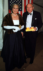 The DUKE & DUCHESS OF RICHMOND & GORDON at a ball in West Sussex on 18th September 1999.MWL 29