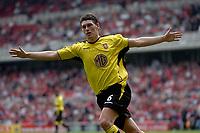 Foto: Digitalsport<br /> NORWAY ONLY<br /> Photo. Glyn Thomas.<br /> Middlesbrough v Aston Villa. <br /> FA Barclaycard Premiership. 24/04/2004.<br /> Aston Villa's Gareth Barry celebrates scoring his side's equaliser on the stroke of half time.