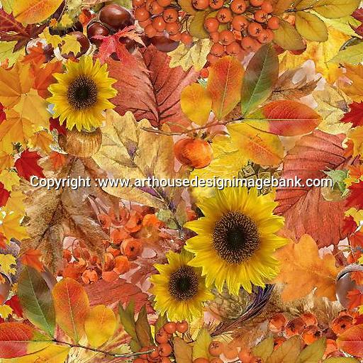 Autumn art for napkins