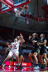 NORMAL, IL - October 30: Lexy Koudelka and Julia Ruzevich during a college women's basketball game between the ISU Redbirds and the Lions on October 30 2019 at Redbird Arena in Normal, IL. (Photo by Alan Look)