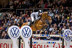 MCMAHON Eoin (IRL), Chacon 2<br /> - Stechen -<br /> Grand Prix von Volkswagen<br /> Int. jumping competition over two rounds (1.55 m) - CSI3*<br /> Comp. counts for the LONGINES Rankings<br /> Braunschweig - Classico 2020<br /> 08. März 2020<br /> © www.sportfotos-lafrentz.de/Stefan Lafrentz