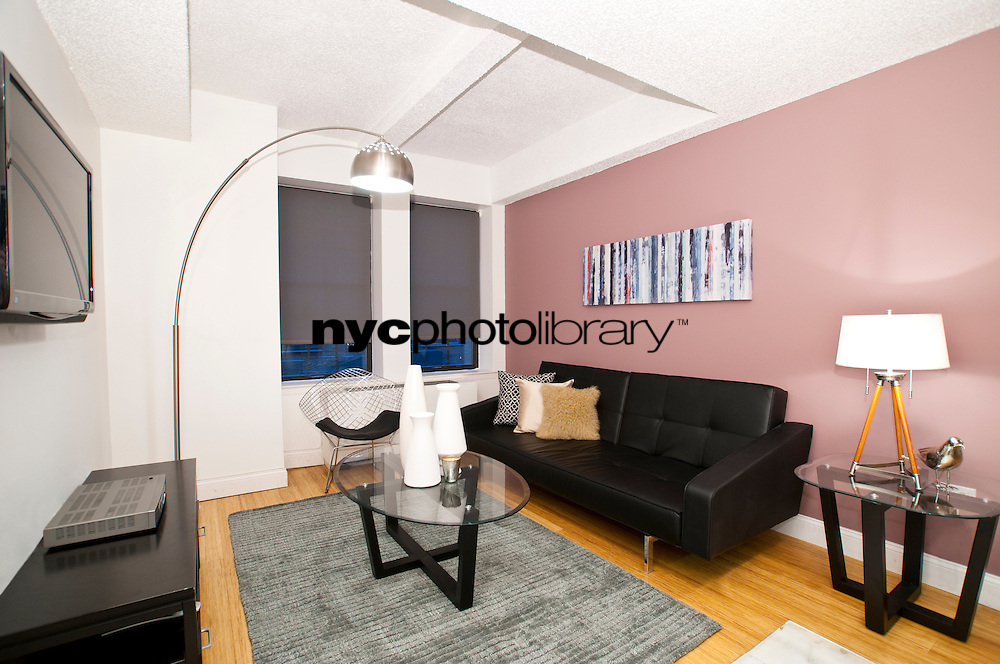 Living Room at 150 West 51st Street