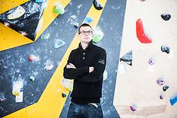 Štefan Wraber during press conference before the new season of climbing 2019, on April 1, 2019 in Ljubljana, Slovenia. Photo by Peter Podobnik / Sportida