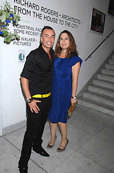 JULIEN MACDONALD and editor of Vogue ALEXANDRA SHULMAN at a reception hosted by Vogue magazine to launch photographer Tim Walker's book 'Pictures' sponsored by Nude, held at The Design Museum, Shad Thames, London SE1 on 8th May 2008.<br /><br />NON EXCLUSIVE - WORLD RIGHTS