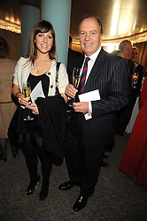 Actor CHARLES COLLINGWOOD and his daughter actress JANE COLLINGWOOD at a tribute lunch in honour of Michael Aspel hosted by The Lady Taverners at The Dorchester, Park Lane, London on 14th November 2008.