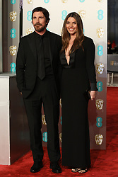 Christian Bale and Sibi Blazic are seen arriving at the BAFTA Awards in London.<br /><br />10 February 2019.<br /><br />Please byline: Vantagenews.com
