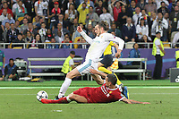 KIEV, UKRAINE - MAY 26: Gareth Bale of Real Madrid in action during the UEFA Champions League final between Real Madrid and Liverpool at NSC Olimpiyskiy Stadium on May 26, 2018 in Kiev, Ukraine. (MB Media)