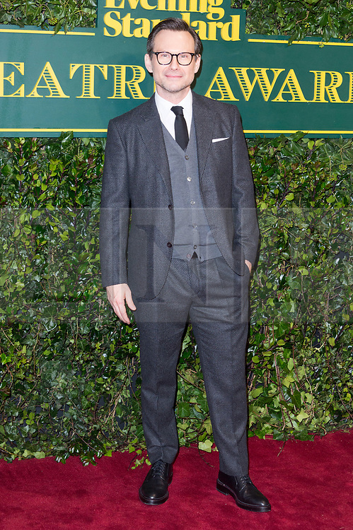 © Licensed to London News Pictures. 03/12/2017. London, UK. CHRISTIAN SLATER attends the London Evening Standard Theatre Awards 2017 held at the Theatre Royal, Dury Lane. Photo credit: Ray Tang/LNP