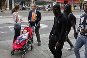 The former Liberal Democrat MP, Simon Hughes canvasses local support in the hope of regaining his seat in the forthcoming general election from Labour, in the constituency of Bermondsey and Old Southwark, on 16th May 2017, on Walworth Road, South London, England.