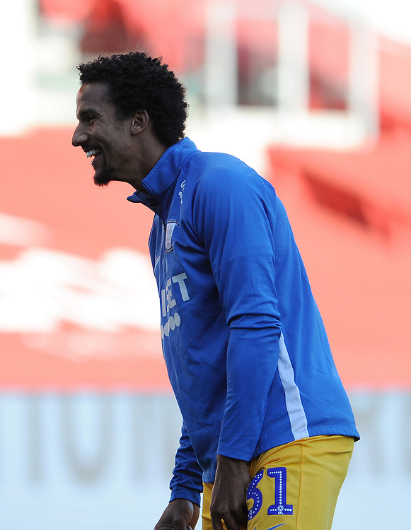 Preston North End's Scott Sinclair during the pre-match warm-up <br /> <br /> Photographer Ian Cook/CameraSport<br /> <br /> The EFL Sky Bet Championship - Bristol City v Preston North End - Wednesday July 22nd 2020 - Ashton Gate Stadium - Bristol <br /> <br /> World Copyright © 2020 CameraSport. All rights reserved. 43 Linden Ave. Countesthorpe. Leicester. England. LE8 5PG - Tel: +44 (0) 116 277 4147 - admin@camerasport.com - www.camerasport.com