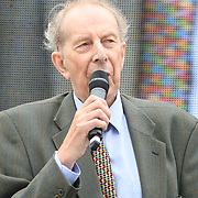 24 July 2021, Trafalgar London. Speaker Dr Vernon Coleman in London to oppose covid vaccines and government restrictions, London, UK.
