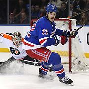 Brian Boyle, New York Rangers, in action during the New York Rangers Vs Philadelphia Flyers, NHL regular season game at Madison Square Garden, New York, USA. 26th March 2014. Photo Tim Clayton