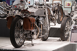 "Brian Klock's 124"" custom Evo Bagger in Michael Lichter's Motorcycles as Art annual exhibition titled ""The Naked Truth"" at the Buffalo Chip Gallery during the 75th Annual Sturgis Black Hills Motorcycle Rally.  SD, USA.  August 4, 2015.  Photography ©2015 Michael Lichter."