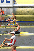 Amsterdam, HOLLAND, GER M1X, Marcel HACKER, at the start, 2007 FISA World Cup Rd 2 at the Bosbaan Regatta Rowing Course. 23.06.2007[Mandatory Credit: Peter Spurrier/Intersport-images]..... , Rowing Course: Bosbaan Rowing Course, Amsterdam, NETHERLANDS