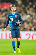 Christian Pulisic (USA) during the international Friendly match between England and USA at Wembley Stadium, London, England on 15 November 2018.