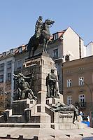 The Battle of Grunwald Monument rebuilt in 1976in Krakow Poland