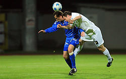 Janez Perme of Domzale vs Janez Zavrl  of Celje  at 30th Round of Slovenian First League football match between NK Domzale and NK MIK CM Celje in Sports park Domzale, on April 25, 2009, in Domzale, Slovenia. Celje won 3:0. (Photo by Vid Ponikvar / Sportida)