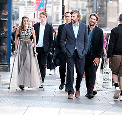 Edinburgh International Film Festival 2019<br /> <br /> Liberte: A Call To Spy (World Premiere)<br /> <br /> Pictured: Producer, writer & actor Sarah Megan Thomas, Marc Rissman (right) and Rossif Sutherland (2nd right)<br /> <br /> Alex Todd | Edinburgh Elite media