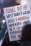 Atmosphere at The Palestine supporters march on the Israeli Consulate in New York City in attempt to end U.S. backed Israeli millitary assault on Hamas controlled Gaza Strip in Palestine held at The Israeli Consulate in NYC on December 30, 2008