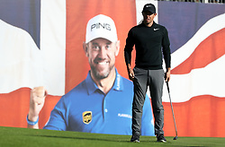 Northern Ireland's Rory McIlroy on the 18th during day one of the British Masters at Close House Golf Club, Newcastle.