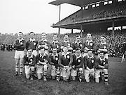 Neg No:.401/5669-5673...14021954IPFCSF1...14.02.1954..Interprovincial Railway Cup Football - Semi-Final..Leinster.3-14 .Ulster.3-6...Leinster. ..J. O'Neill (Wexford), M. O'Brien, P. O'Brien, K. McConnell (Meath), G. O'Reilly (Wicklow), P. Dunne (Laois), A. Murphy (Carlow), J. Rogers (Wicklow), S. White (Louth), J. Reilly (Meath), O. Freaney, C. O'Leary (Dublin), P. Meegan (Meath), J. McDonnell (Louth), K. Heffernan (Dublin). ..