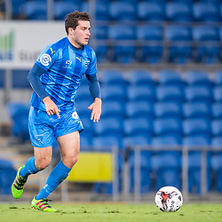 BRISBANE, AUSTRALIA - SEPTEMBER 20: Roman Hoffman of Gold Coast City in action during the Westfield FFA Cup Quarter Final match between Gold Coast City and South Melbourne on September 20, 2017 in Brisbane, Australia. (Photo by Gold Coast City FC / Patrick Kearney)