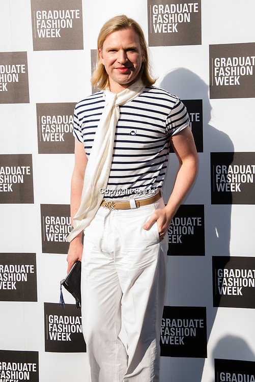 Henry Conway arriver at the Graduate Fashion Week 2018, June 6 2018 at Truman Brewery, London, UK.