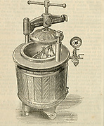 Pressur cooker patented in 1884 by W.H. Bailey & Co., Salford, Lancashire, England.