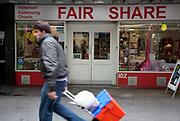 Fair Share charity shop, Berwick Street, London.