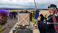 Musselburgh, East Lothian, Scotland, UK, Battle of Pinkie Cleugh commemoration: the annual ceremony takes place in a new format with live streaming as well as actual participation. The 473rd anniversary of the significant battle in Scotland's 'Rough Wooing' history is marked by a battle trail walk organised by the Pinkie Cleugh Battlefield Group ending at the memorial stone and a minute's silence for the 10,000 Scots killed on a day known as 'Boody Saturday'.  The battle was the largest ever fought in Scotland and resulted in a defeat for the Scots.<br /> Sally Anderson | EdinburghElitemedia.co.uk