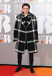Brooklyn Beckham attending the BRIT Awards 2017, held at The O2 Arena, in London.<br /><br />Picture date Tuesday February 22, 2017. Picture credit should read Doug Peters/ EMPICS Entertainment. Editorial Use Only - No Merchandise.