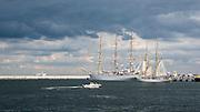 Gdynia, (woj. pomorskie) 17.08.2014. Zlot żaglowców w Gdyni