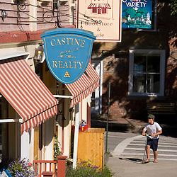 A street scene in Castine, Maine.