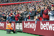 West Ham fans applaud Birminham City midfielder Samir Nasri (18) as he is substituted during the The FA Cup 3rd round match between West Ham United and Birmingham City at the London Stadium, London, England on 5 January 2019.