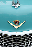 Great old blue cadillac grill