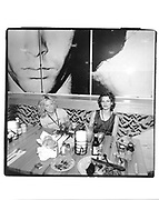 Tracy Ross and Sandra Bernhardt. In the diner.  Opening of the Hard Rock Hotel. Las Vegas<br />© Copyright Photograph by Dafydd Jones 66 Stockwell Park Rd. London SW9 0DA Tel 020 7733 0108 www.dafjones.com
