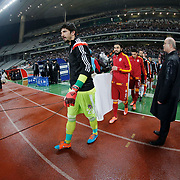 Besiktas's goalkeeper Tolga Zengin (C) during their Turkish superleague soccer match Besiktas between Galatasaray at Ataturk Olimpiyat Stadium in Istanbul Turkey on Sunday 04 January 2015. Photo by Aykut AKICI/TURKPIX
