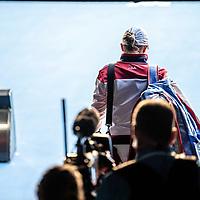 Ash Barty of Australia on day four of the 2018 Australian Open in Melbourne Australia on Thursday January 18, 2018.<br /> (Ben Solomon/Tennis Australia)