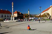 Fountain of the Statue of Holy Mary. Kaptol, Zagreb, Croatia