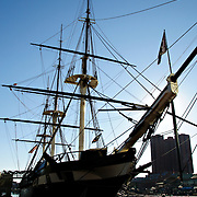USS Constellation, a Civil War-era ship on display at Baltimore's Inner Harbor