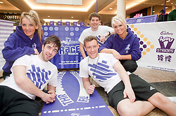 Cadburys Spots vs Stripes Challenge Race Season Meadowhall Sheffield.left to right the Race crew Trudy Deakin Daffyd Gough, Dale Falconer, Dean Haley and Anita Stenson.2 April 2011.Images © Paul David Drabble